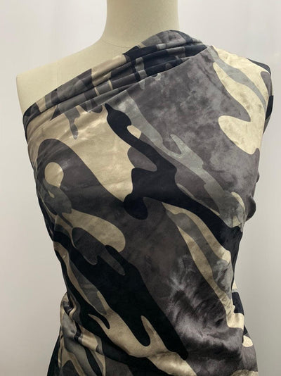 Printed Velour - Camouflage