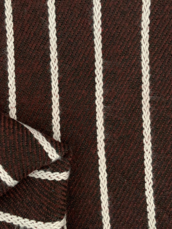 Designer Wool - Brown, Black & White Stripe