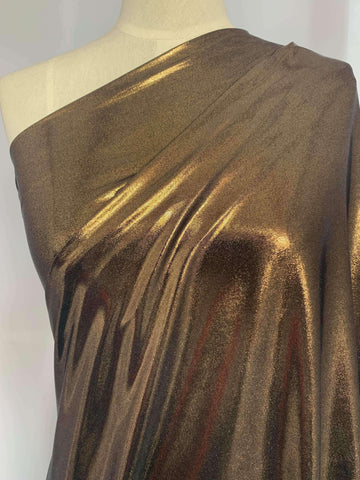 Metallic Stretch Lycra - Bronze