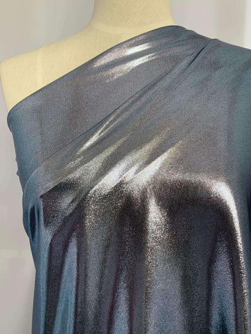 Metallic Stretch Lycra - Rain