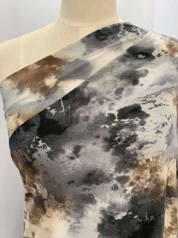 Printed Lycra - Watercolour Stone