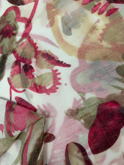 Cotton Voile - Abstract Peony