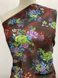 Printed Polyester - Burgundy Treasure Floral
