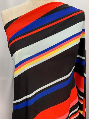 Printed Polyester - Colour Filled Stripes