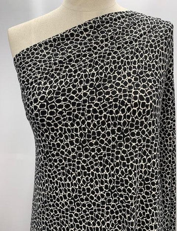 Printed Lycra - Rounded Squares