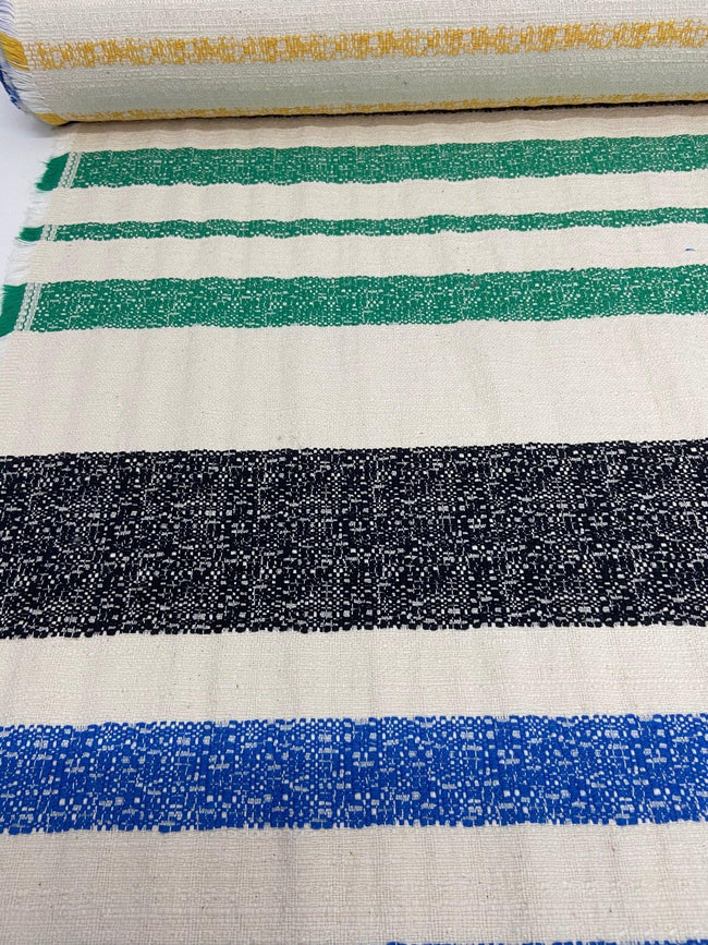 Textured Cotton - Bondi Stripe - 135cm