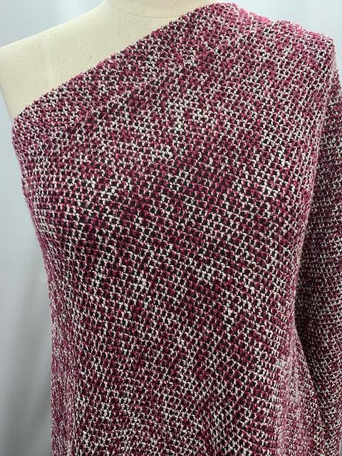 Wool Blend - Pink Criss Cross