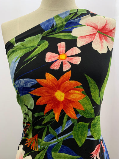 Floral Printed Lycra Fabric
