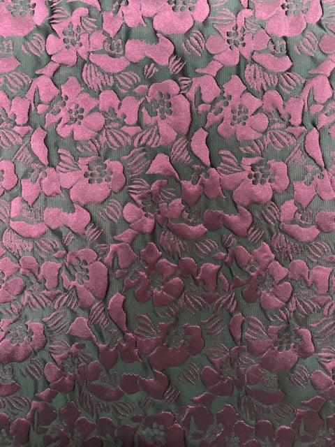 Designer Fabric - Burgundy Flower Pop