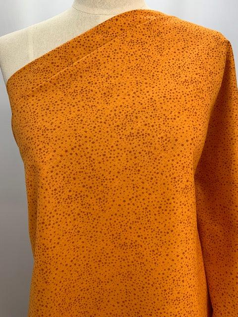 Cotton Print-Speckled Orange