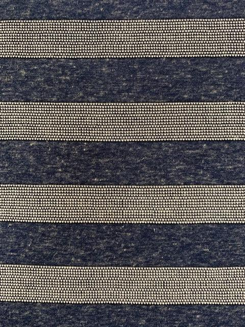 Textured Knit - Blue Marble Stripe