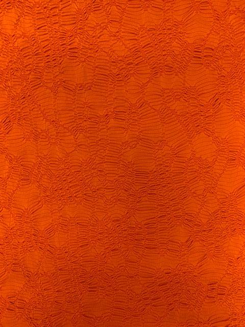 Textured Knit - Orange Ripple