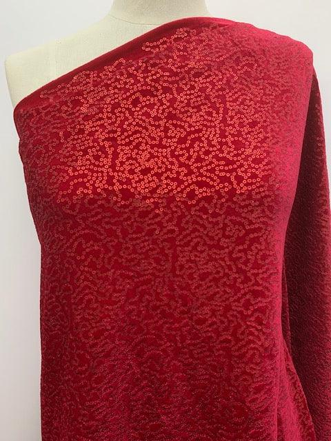 Evening Fabric - Maharet Red - 135cm