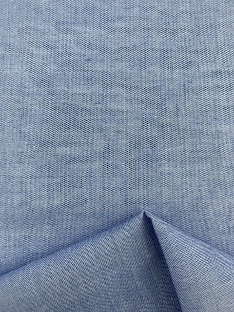 Cotton Chambray - Sky Blue