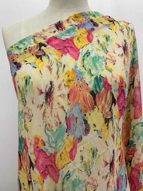 Printed Chiffon - Monets Paint