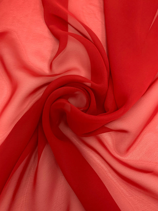 Hi-Multi Chiffon - Red - 44 inch