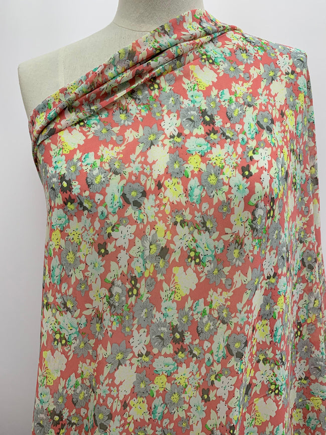 Printed Chiffon - Sweet 60s Floral