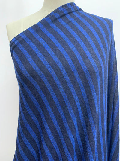 Textured Knit - Navy & Blue Stripe
