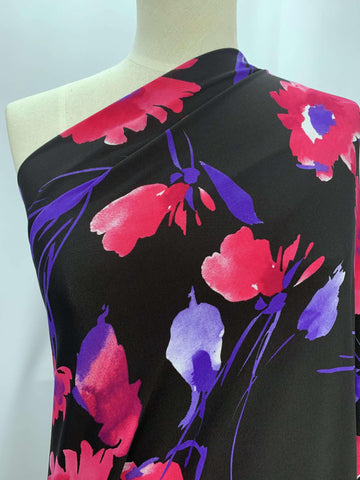 Printed Lycra - Pink Daisy