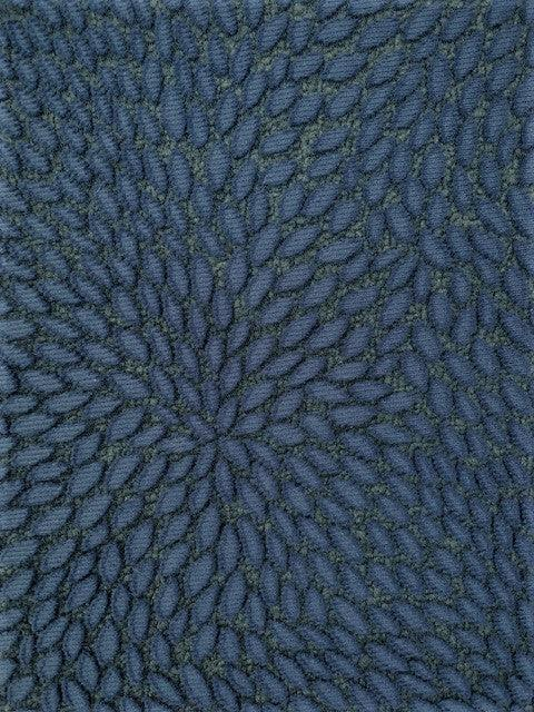 Designer Lace - Navy Leaves