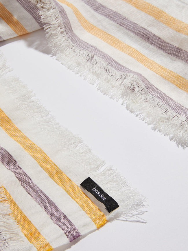 Ramie Linen - Purple & Yellow Tassel