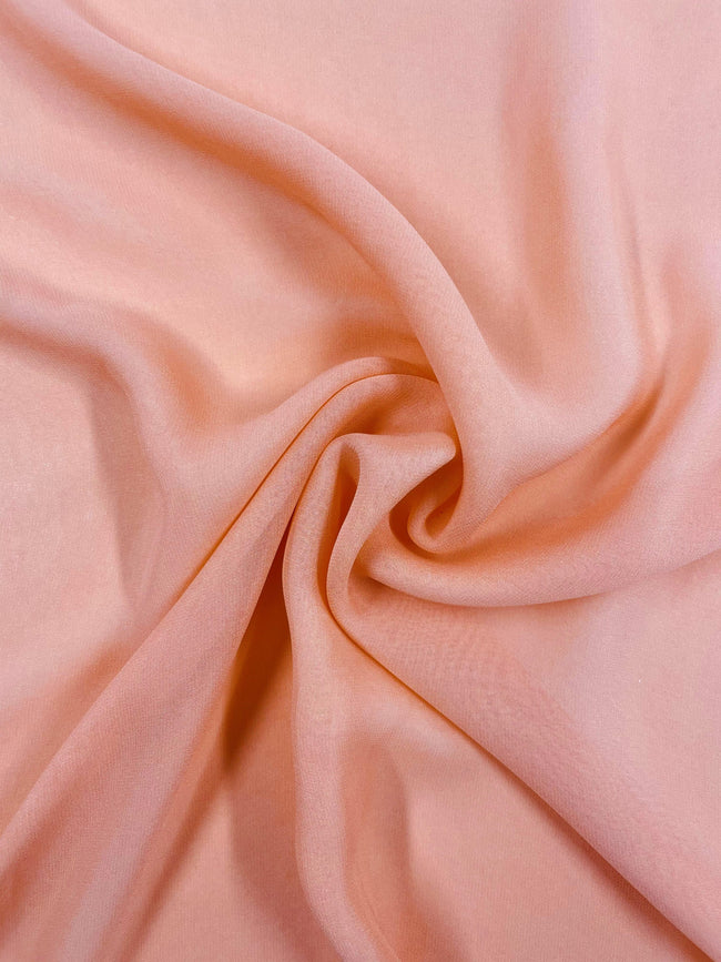 Super Cheap Fabrics - Silk Georgette - Melon - 137cm