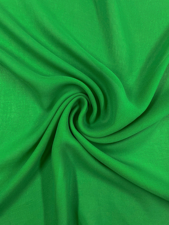 Super Cheap Fabrics - Silk Georgette - Parrot - 137cm