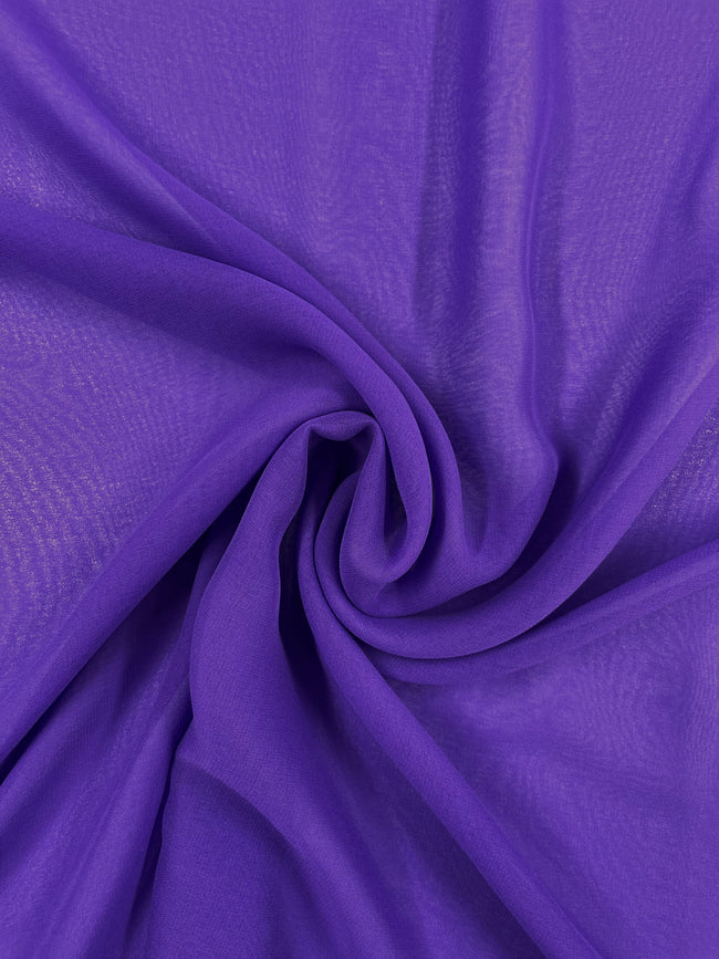 Super Cheap Fabrics - Silk Georgette - Purple - 137cm