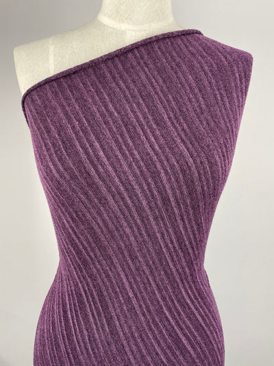 Super Cheap Fabrics - Textured Knit - Purple Ripple - 150cm