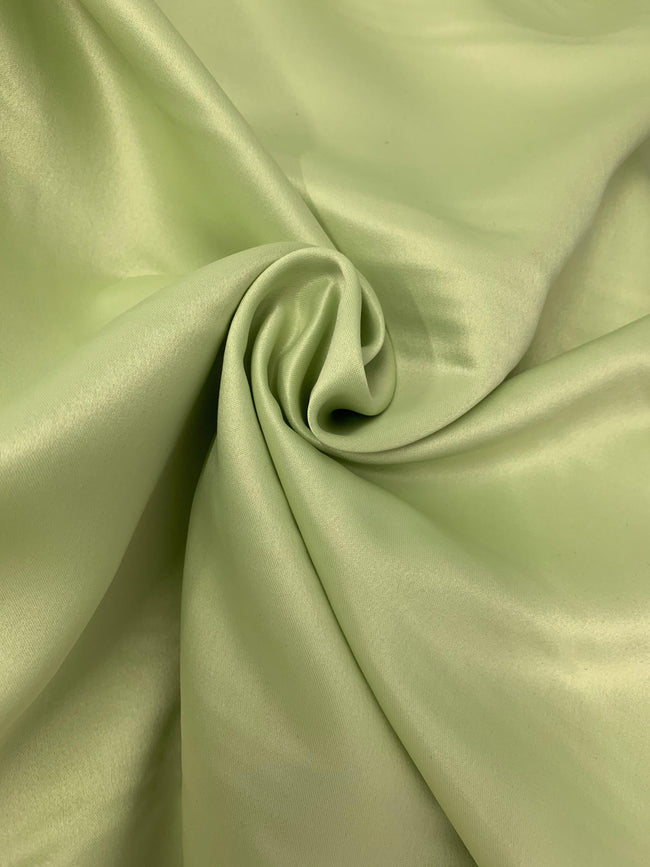 Plain Sateen - Apple Green