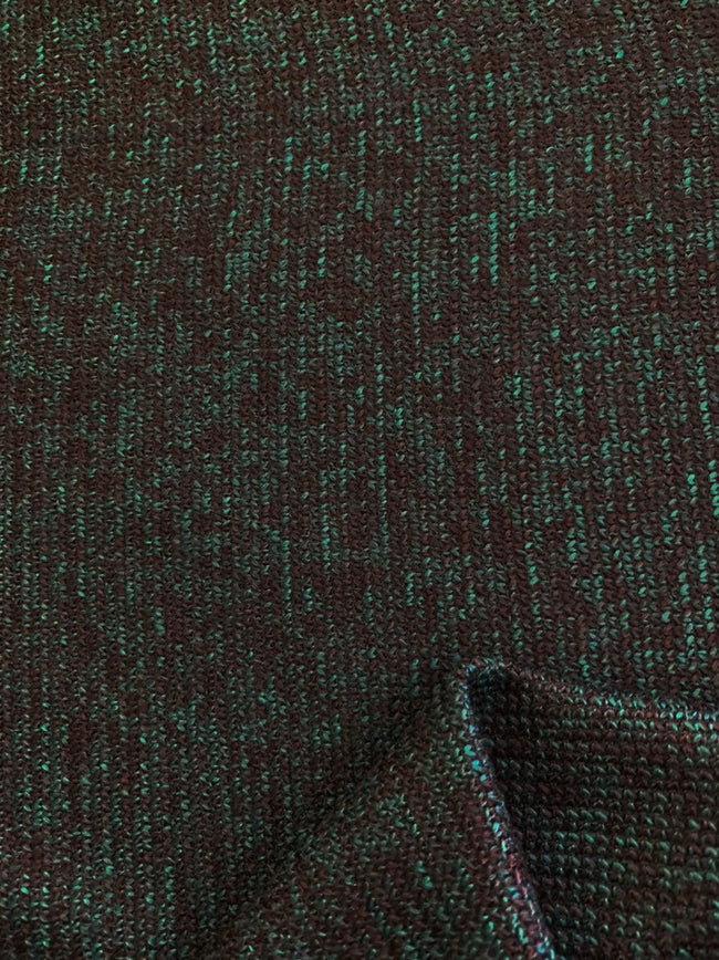 Designer Wool - Green & Black Marle