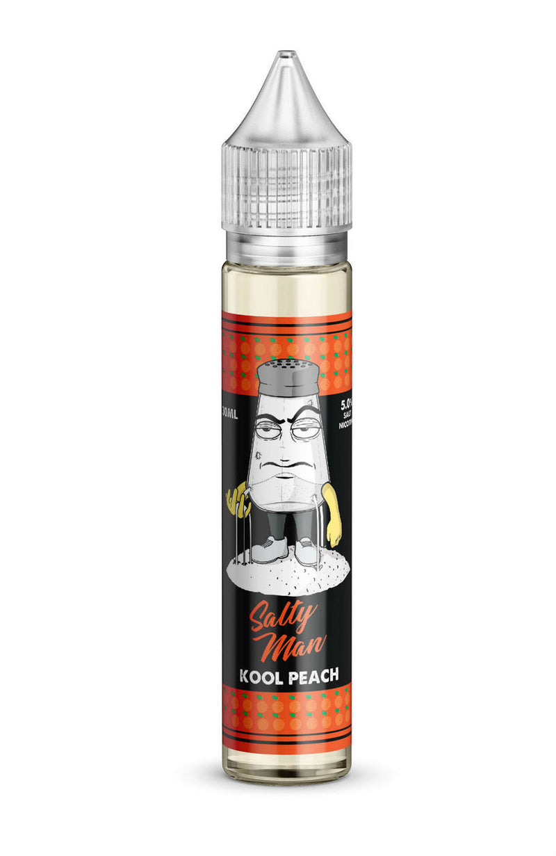 Salty Man 30ml Kool Peach (30mg Salt)
