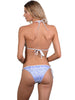 Back view of Blue Bohemian Triangle Bikini Top