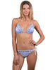 Blue Bohemian Triangle Bikini Top by Finch Swim
