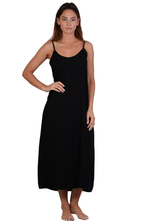 Long doube layer rayon slip dress