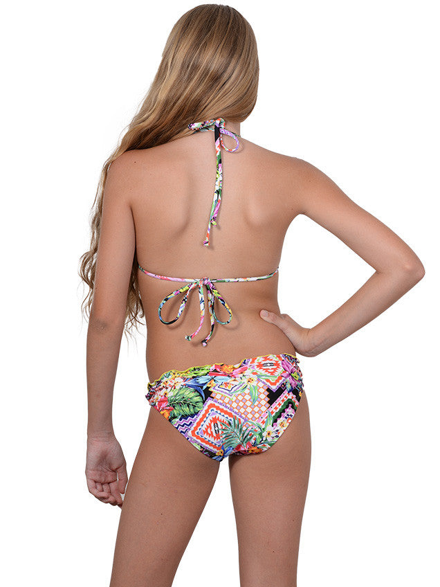 Back view of Frill Triangle bikini