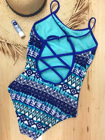 Sea Salty Cross-Back Onepiece