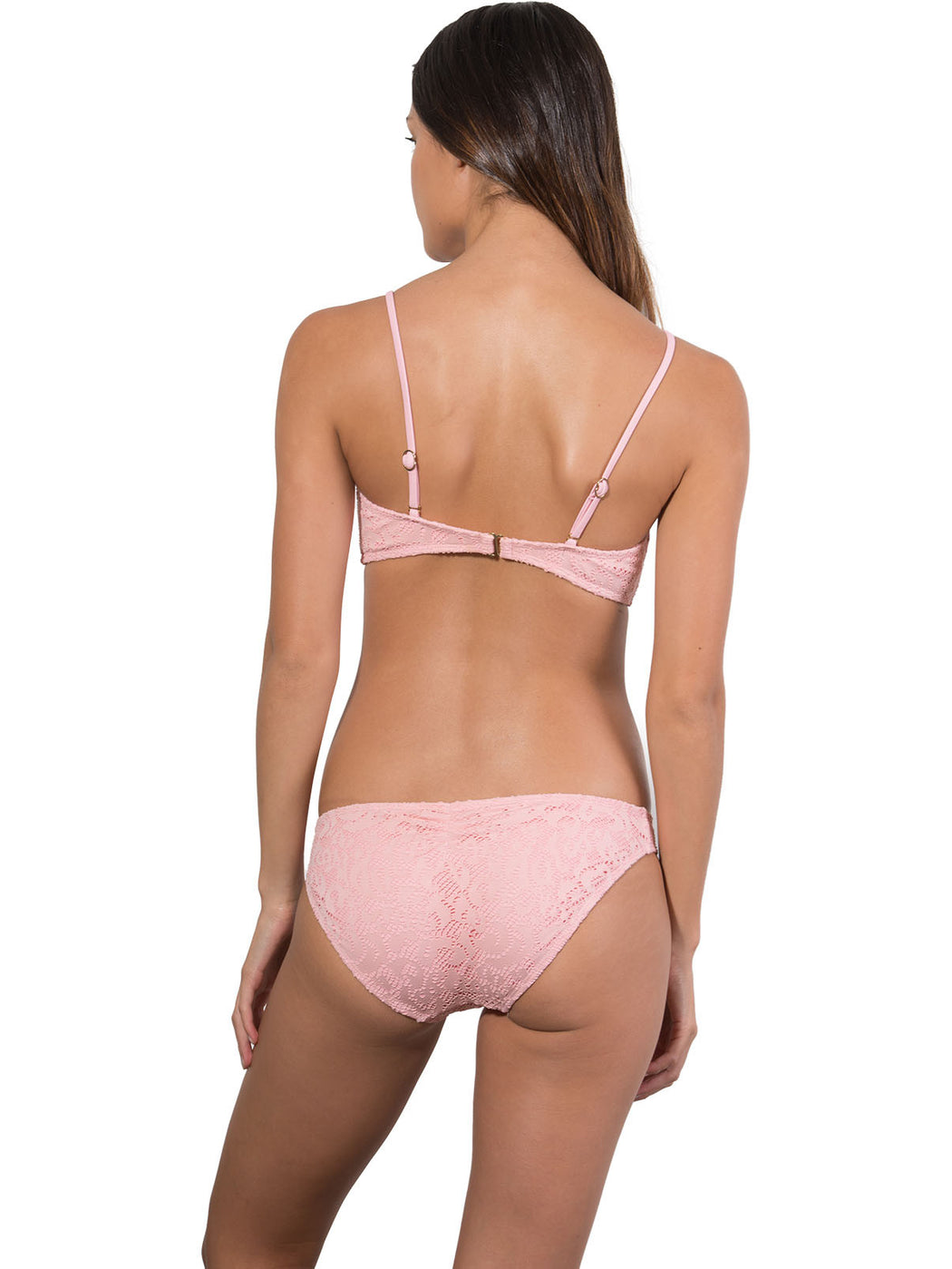French Connection Ruche Back Hipster Bikini Pant in Tea Rose