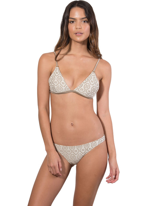 French Connection Bralette Bikini Top in Latte