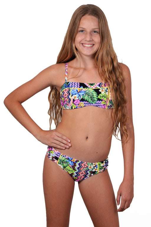 Finch Girls bikini with bandeau top and hipster bottoms