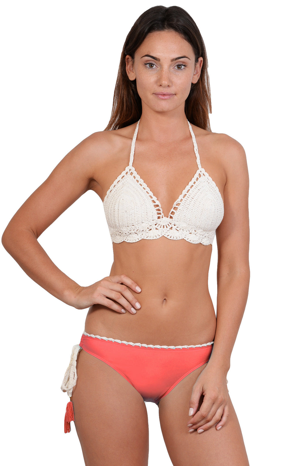 Sea Gypsy Crochet bikini with hipster lycra bottom
