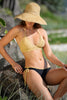 Sea Gypsy Crochet bikini with hipster lycra bottom, in black