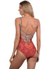 Grand Bazaar Lace-Up Back Onepiece by Finch Swim