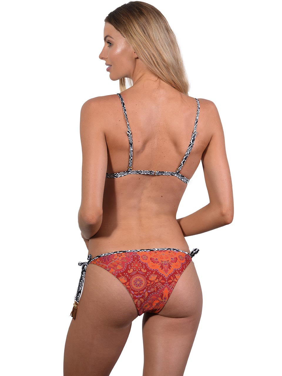 Grand Bazaar Tie Side Rio Bikini Pant by Finch Swim