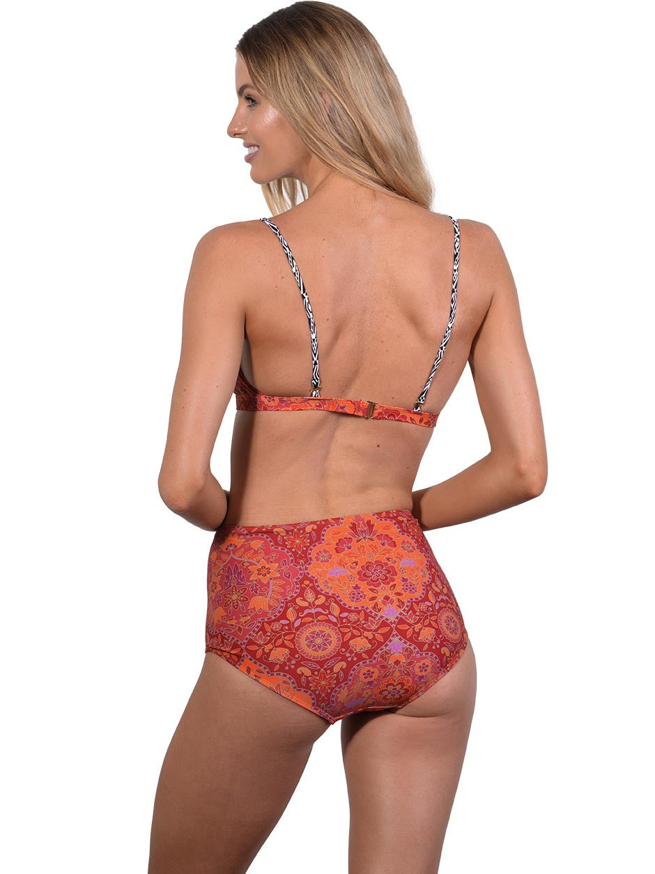 Back view of Grand Bazaar High Waist Retro Bikini Pant