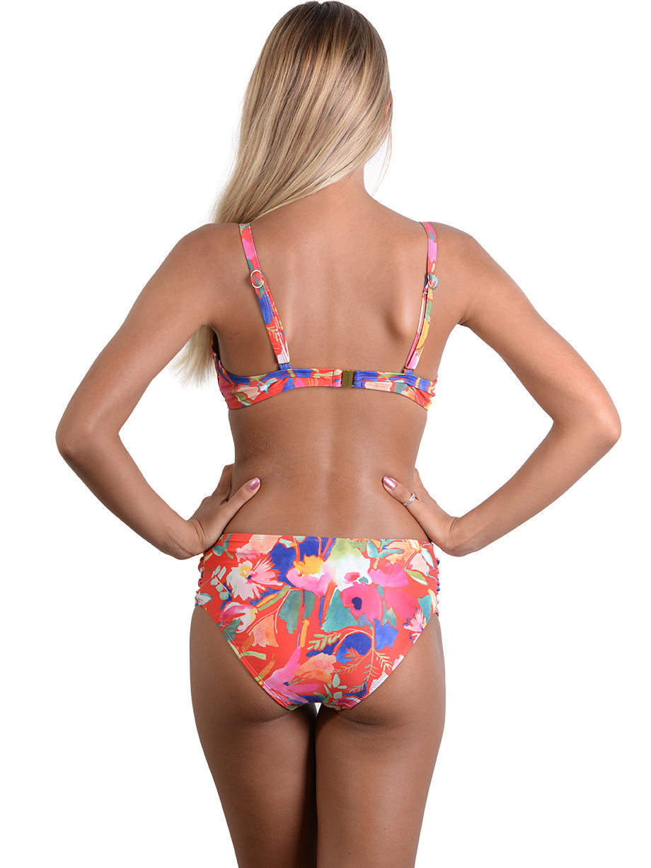Back view of Havana Ruche Side Retro Bikini Pant