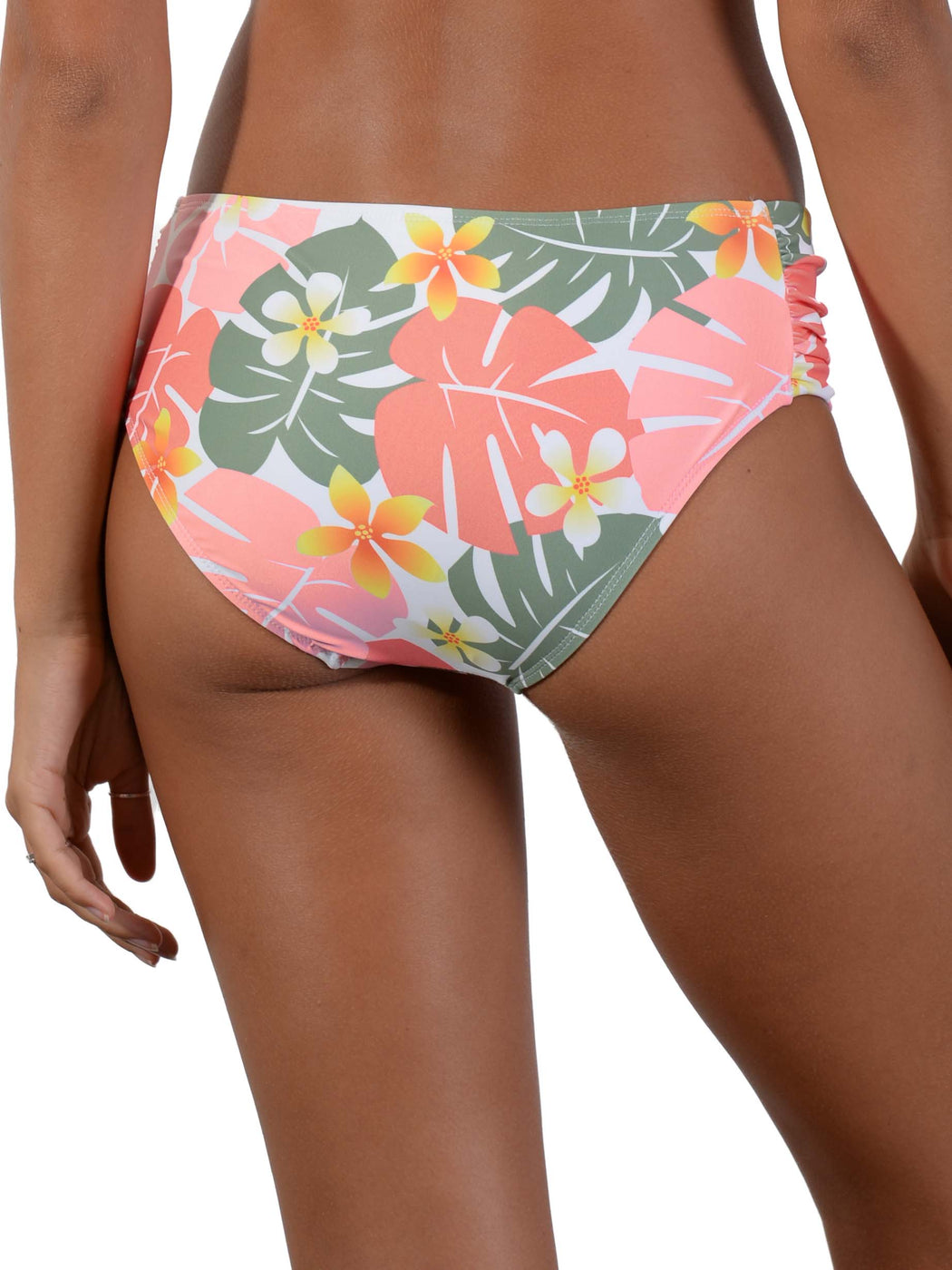 Back view of Jungle Jive Ruche Side Retro Bikini Pant