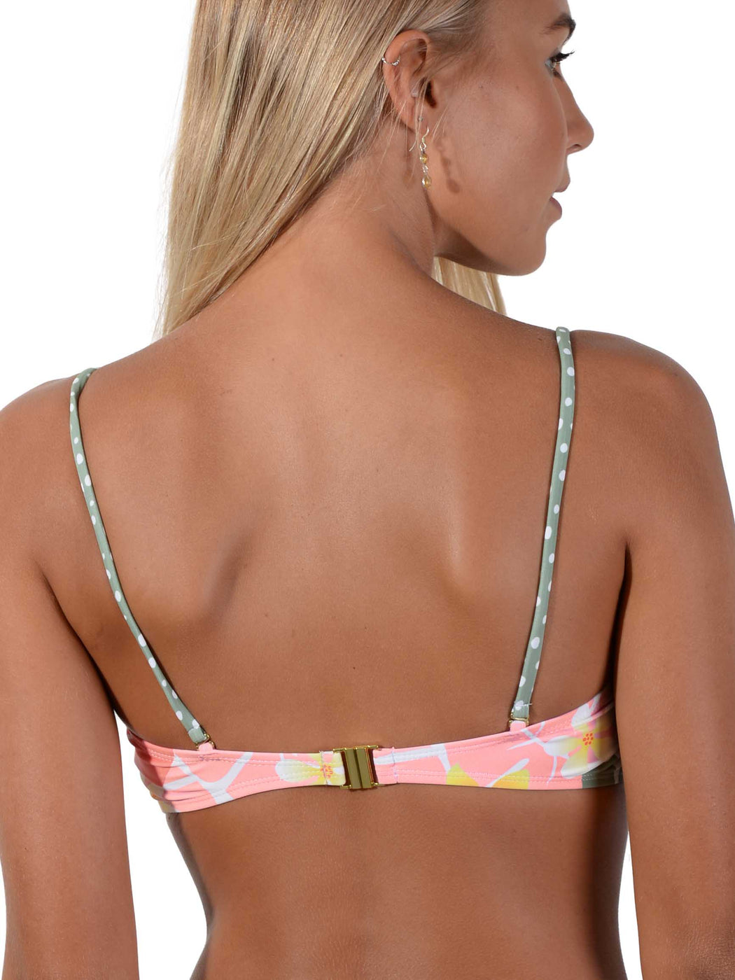 Back view Jungle Jive Bandeau Bikini Top