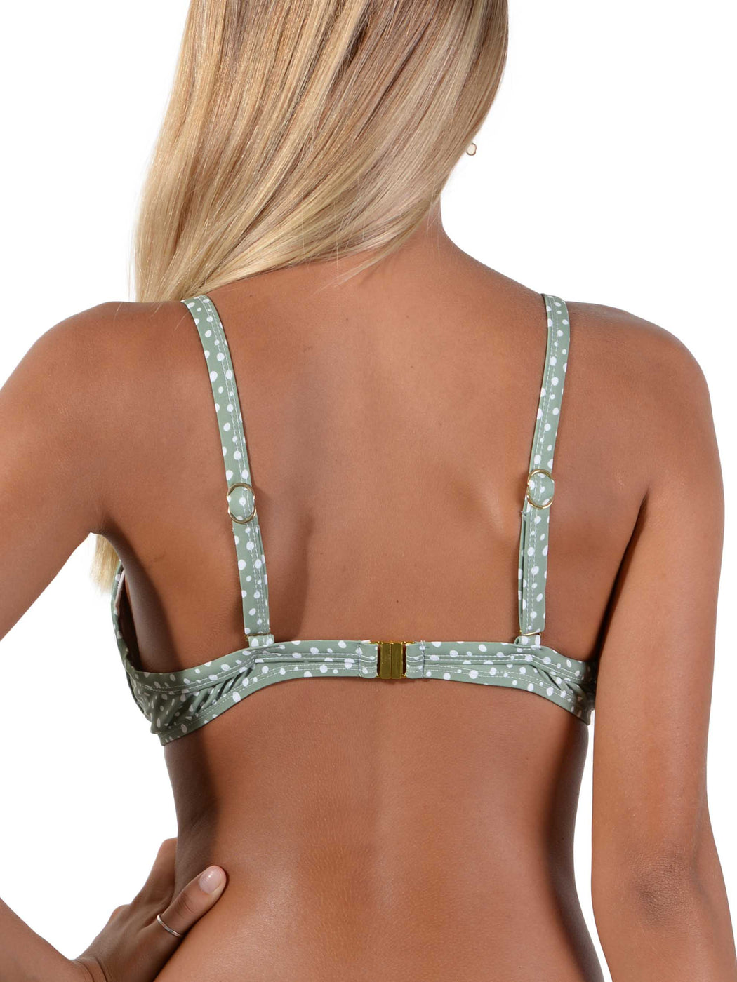 Back of Kokomo Palm D-DD Underwire Bralette Bikini Top