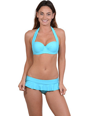 Summer Glow Halter Balconette Bikini Top in Atoll